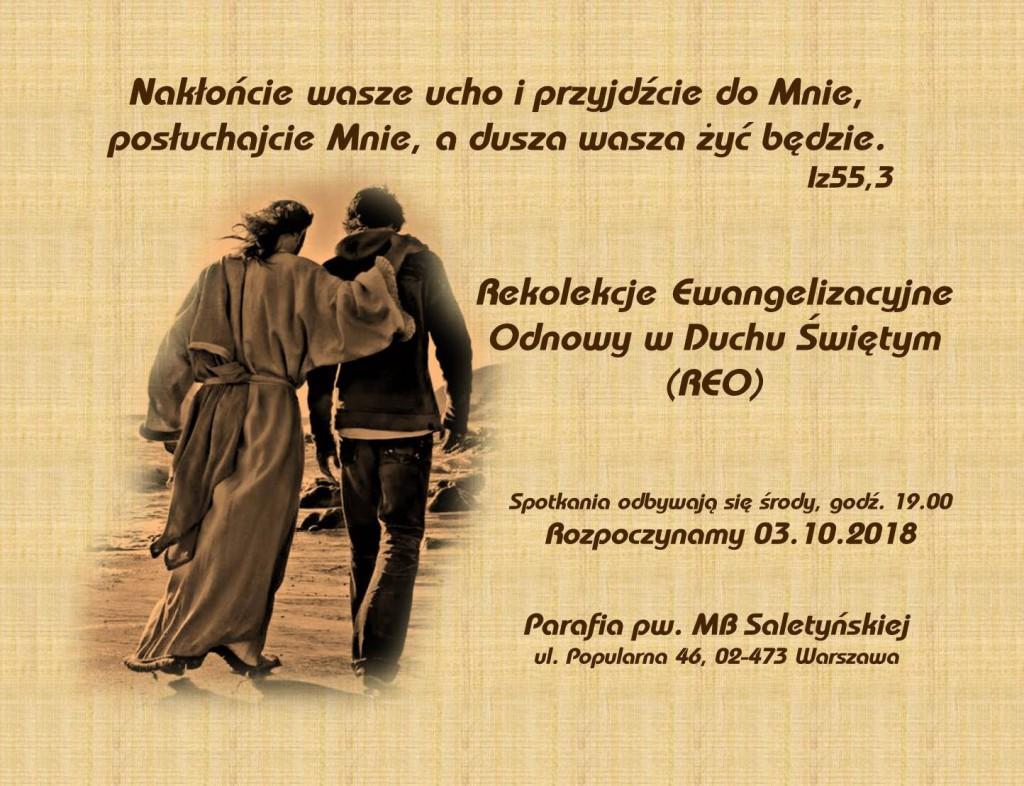 Rekolekcje Ewangelizacyjne Odnowy (REO)