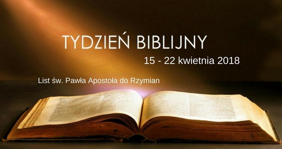 Tydzień Biblijny 15-22 kwietnia